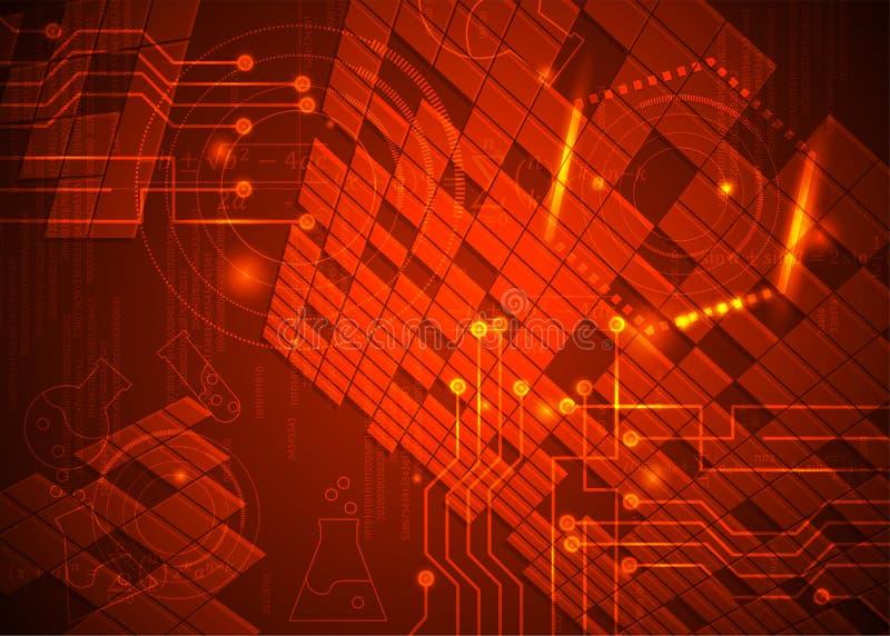 Fórmulas abstratas de background_17_of, código, sinais e placas matemáticas, conceito de projeto da tecnologia digital e ciência ilustração stock