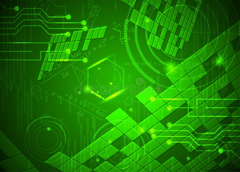 Fórmulas abstratas de background_16_of, código, sinais e placas matemáticas, conceito de projeto da tecnologia digital e ciência ilustração royalty free