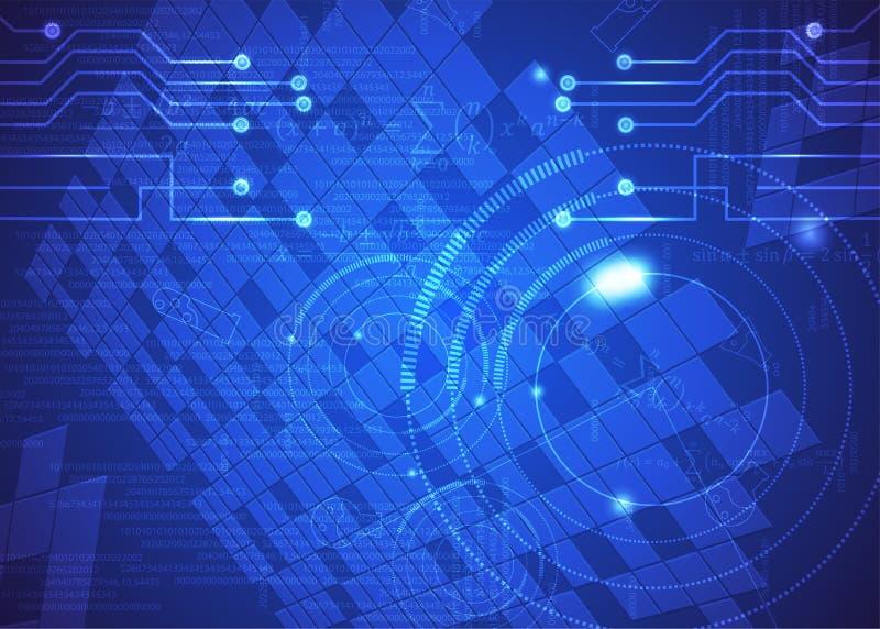Fórmulas abstratas de background_25_of, código, sinais e placas matemáticas, conceito de projeto da tecnologia digital e ciência ilustração stock