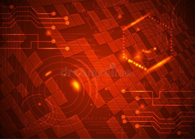 Fórmulas abstratas de background_28_of, código, sinais e placas matemáticas, conceito de projeto da tecnologia digital e ciência ilustração royalty free
