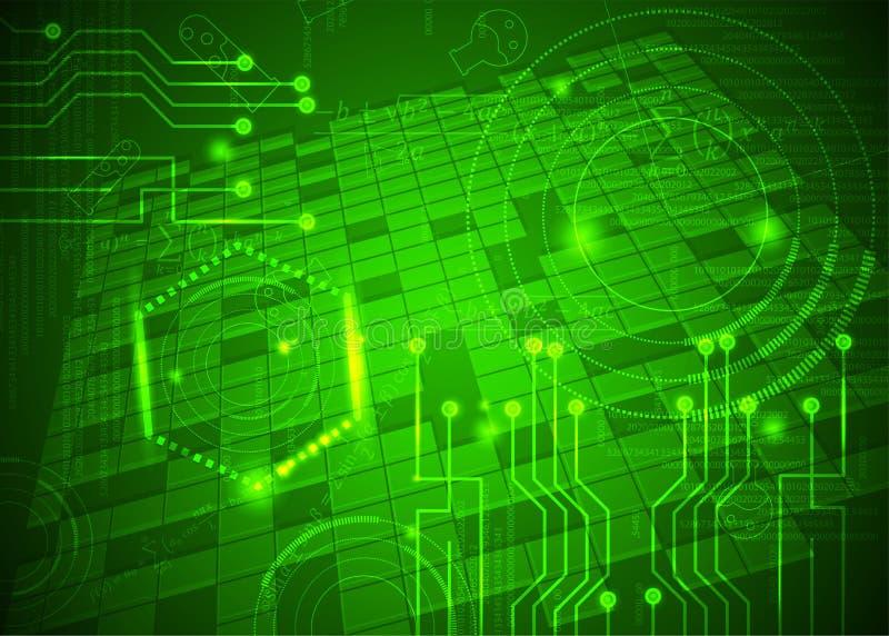 Fórmulas abstratas de background_12_of, código, sinais e placas matemáticas, conceito de projeto da tecnologia digital e ciência ilustração do vetor