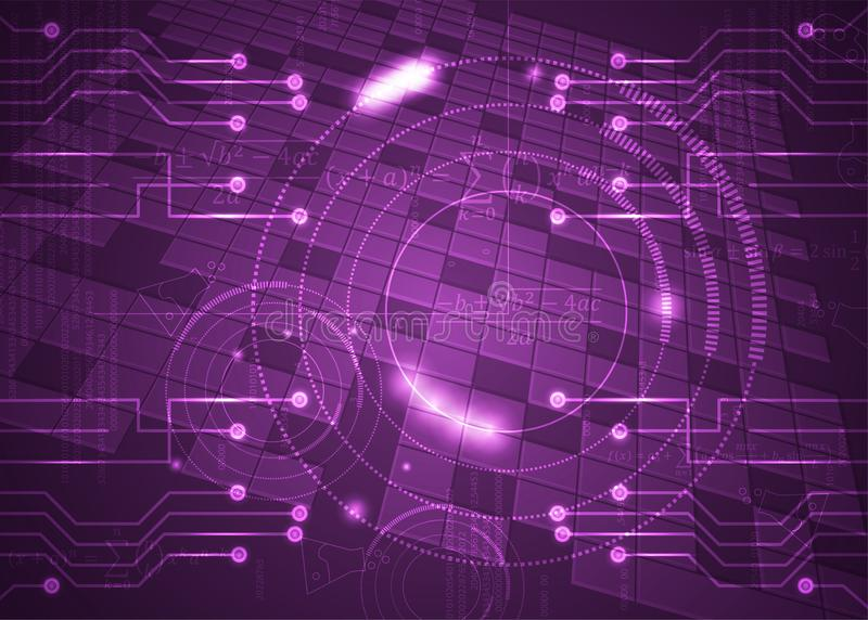 Fórmulas abstratas de background_24_of, código, sinais e placas matemáticas, conceito de projeto da tecnologia digital e ciência ilustração do vetor