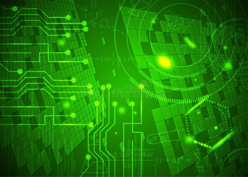 Fórmulas abstratas de background_27_of, código, sinais e placas matemáticas, conceito de projeto da tecnologia digital e ciência ilustração royalty free