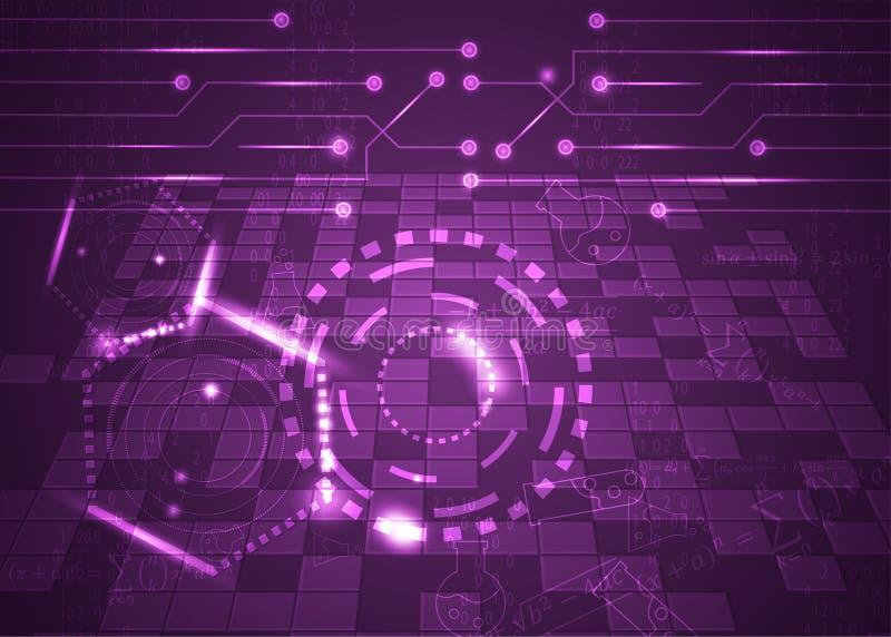 Fórmulas abstratas de background_30_of, código, sinais e placas matemáticas, conceito de projeto da tecnologia digital e ciência ilustração do vetor