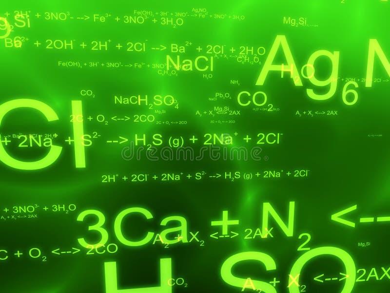 Fórmulas da ciência ilustração do vetor
