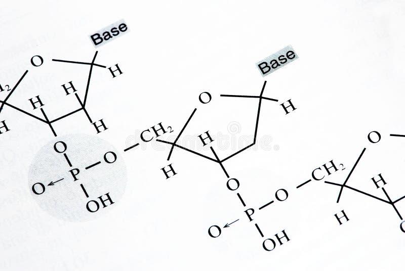 Fórmulas da química fotografia de stock