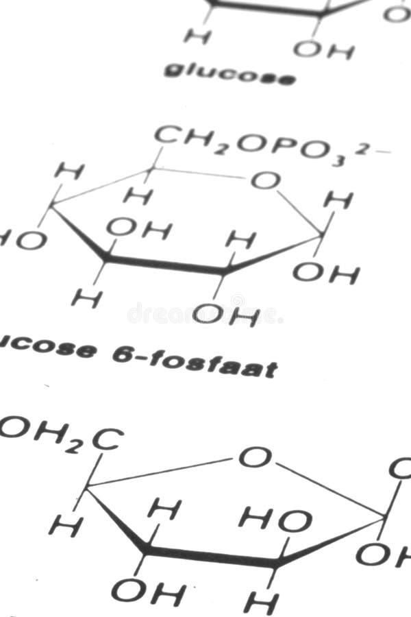 Fórmulas de la química imágenes de archivo libres de regalías