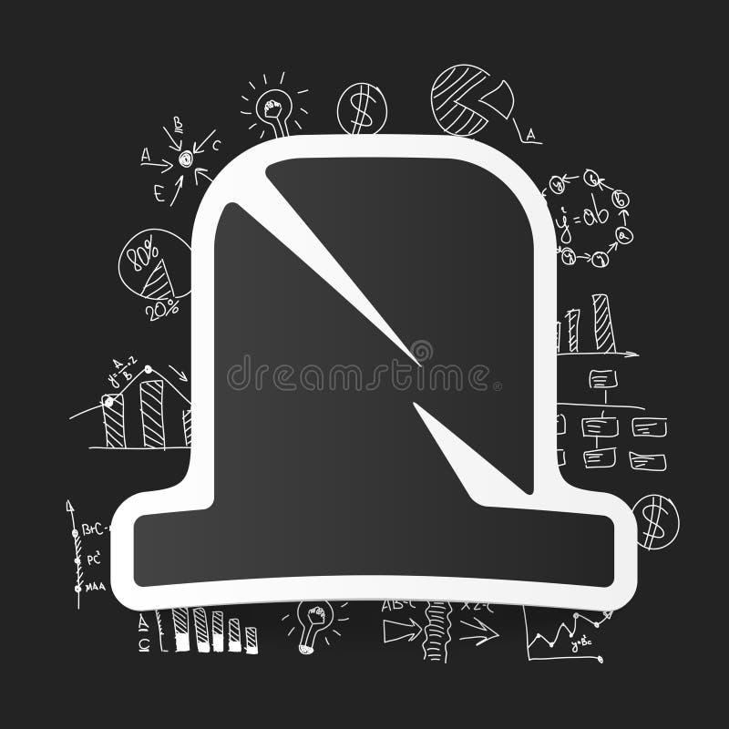 Fórmulas do negócio do desenho tombstone ilustração do vetor