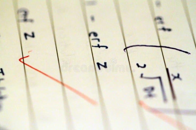 Fórmulas e equações da matemática imagens de stock