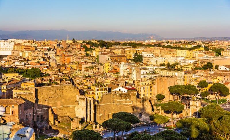 Fórum de Augustus em Roma, Itália imagens de stock royalty free