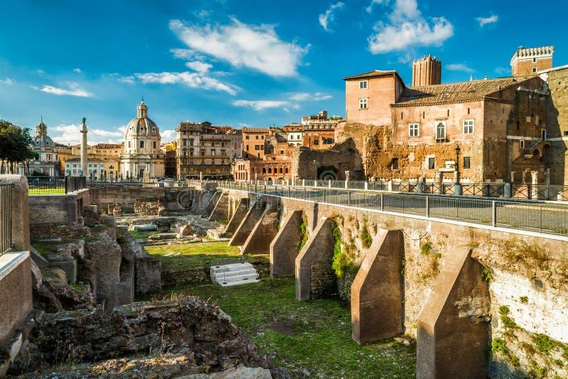 Fórum de Augustus perto de Roman Forum em Roma fotos de stock royalty free