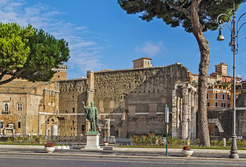 Fórum de Augustus, Roma foto de stock royalty free