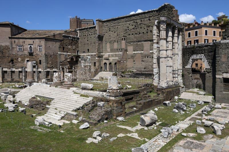 Fórum de Augustus Rome - Itália fotos de stock