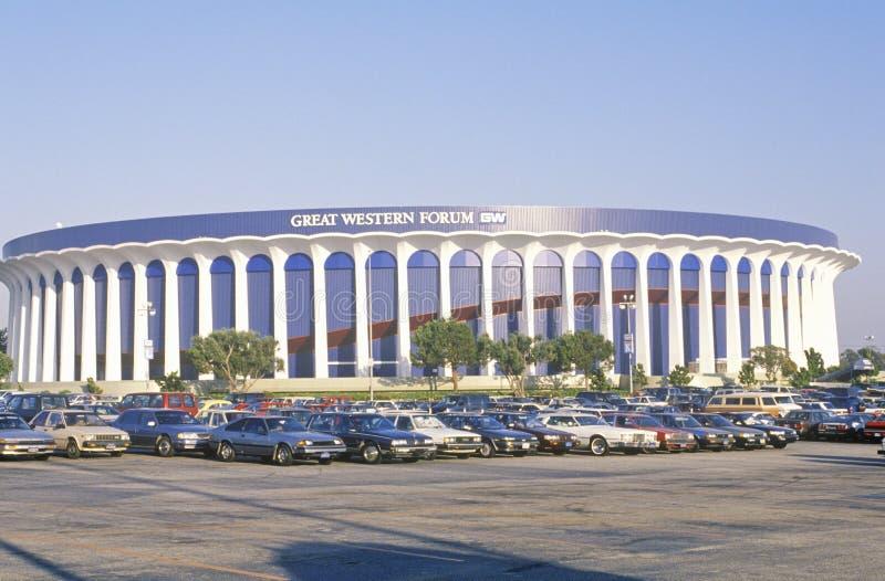 Fórum de Great Western, casa do LA Lakers, Inglewood, Califórnia imagem de stock