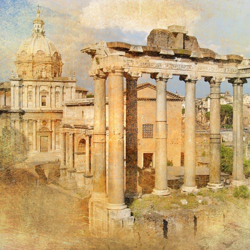 Fórum de Roma ilustração stock