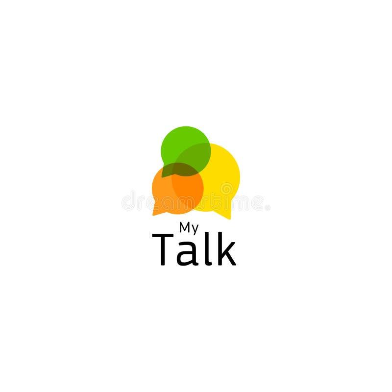 Fórum do Internet, uma comunicação viva no tempo real Ícone abstrato que indica uma conversação ou um diálogo ou uma discussão ilustração stock