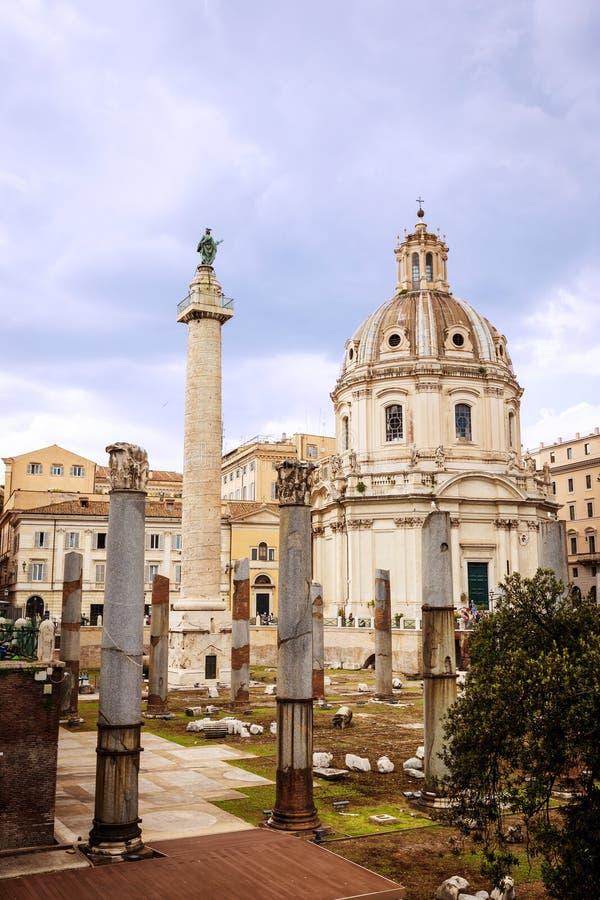 Fórum imperial romano fotos de stock royalty free