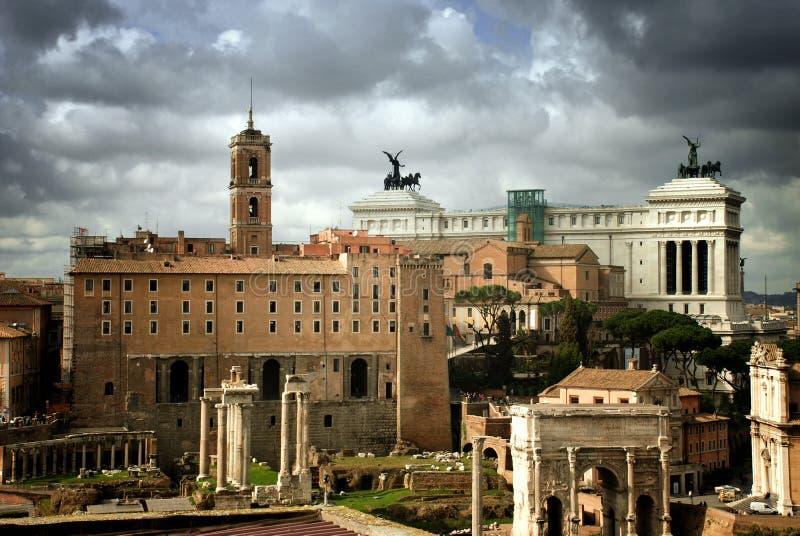 Fórum romano fotos de stock royalty free