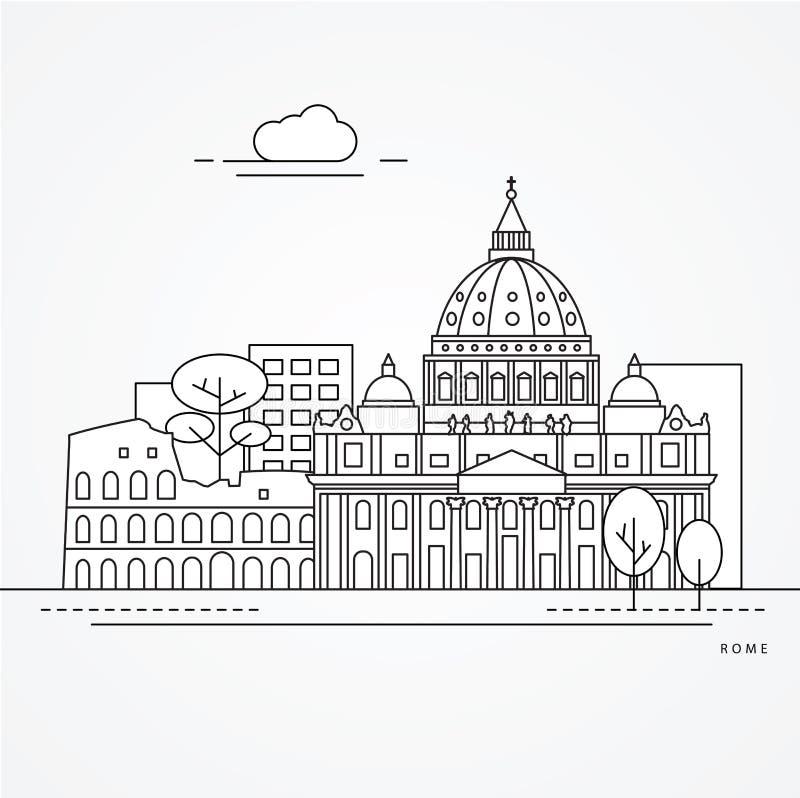 Fórum romano do Th ilustração royalty free