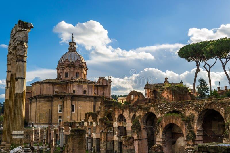 Fórum romano em Italy fotografia de stock