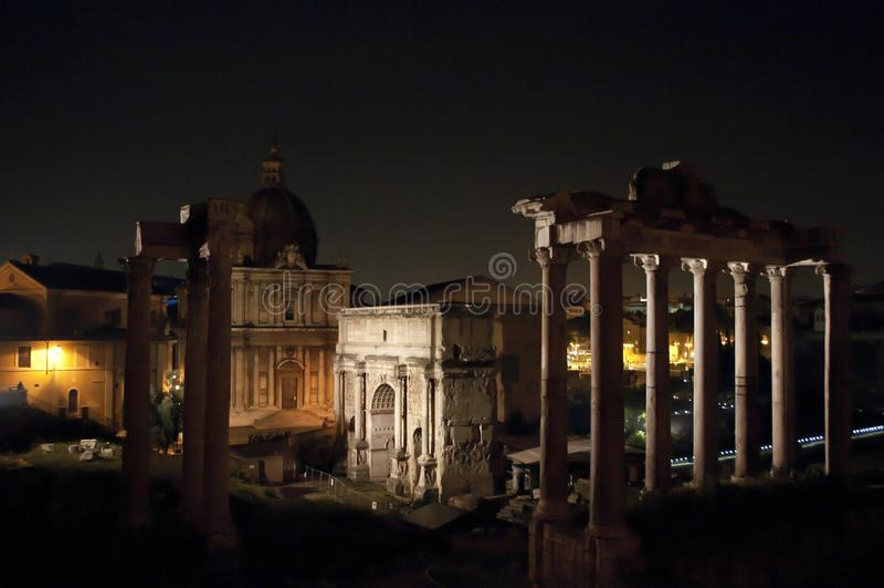 Fórum romano, Roma, Italy fotos de stock royalty free