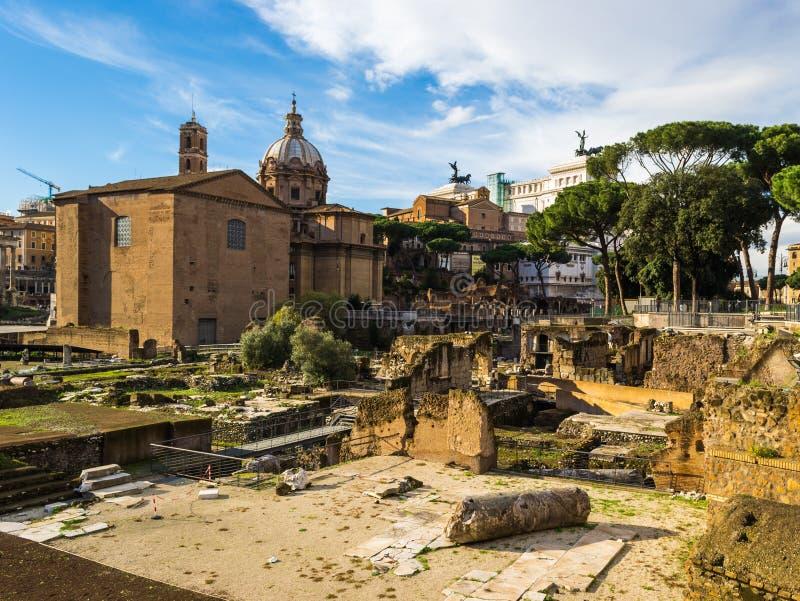 Fórum romano (romano de Foro) fotos de stock