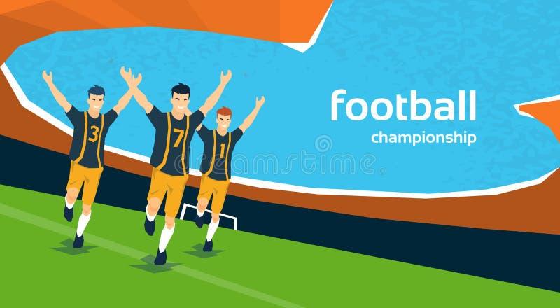 Fósforo de futebol Team Players Sport Championship ilustração stock