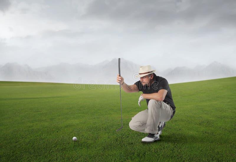 Fósforo do golfe imagem de stock royalty free