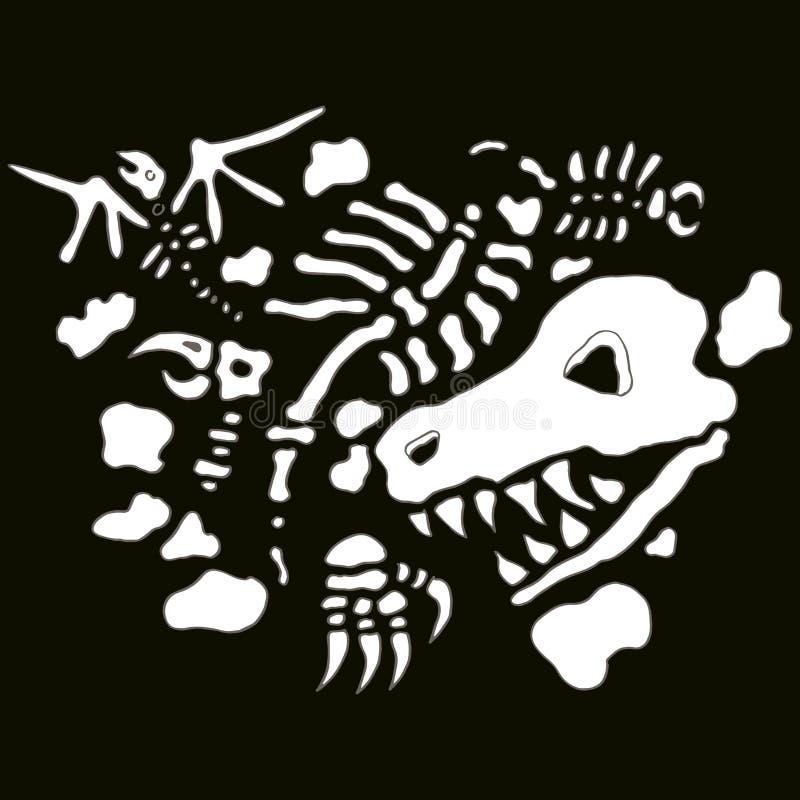 Fósiles subterráneos stock de ilustración