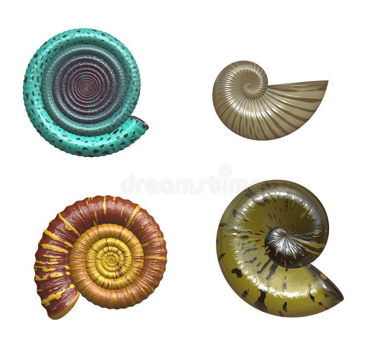 Fósiles viejos stock de ilustración