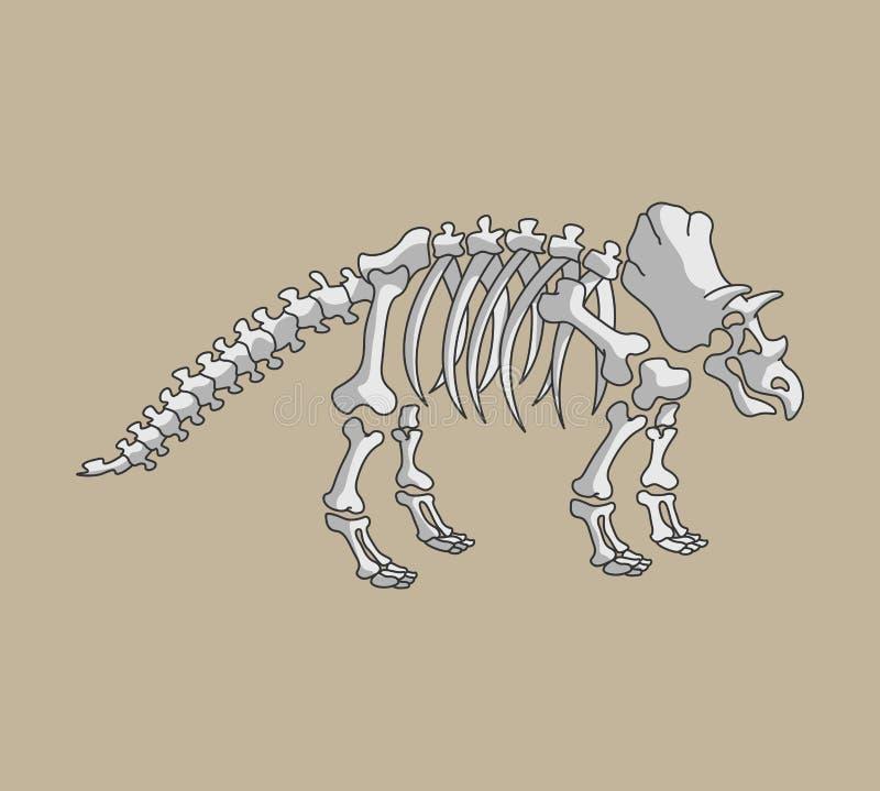 Fóssil de Triceratop ilustração do vetor