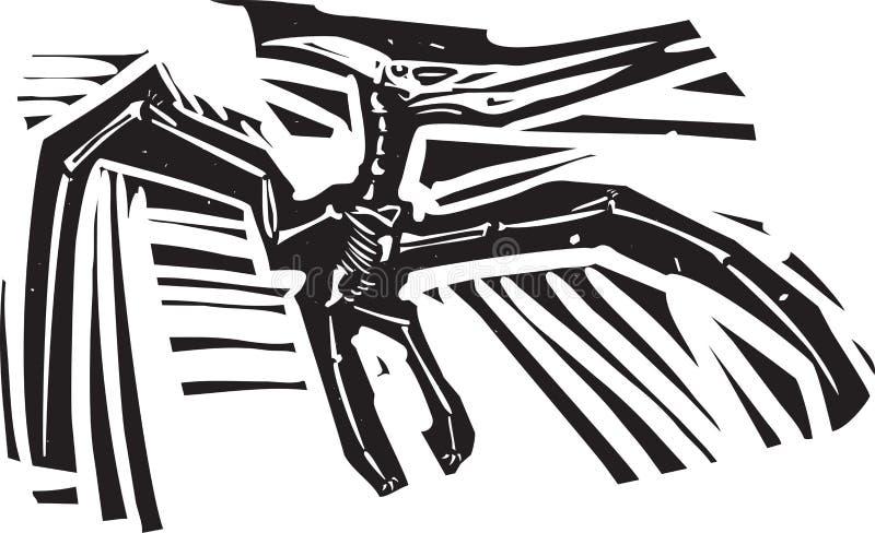 Fóssil do pterodátilo ilustração do vetor