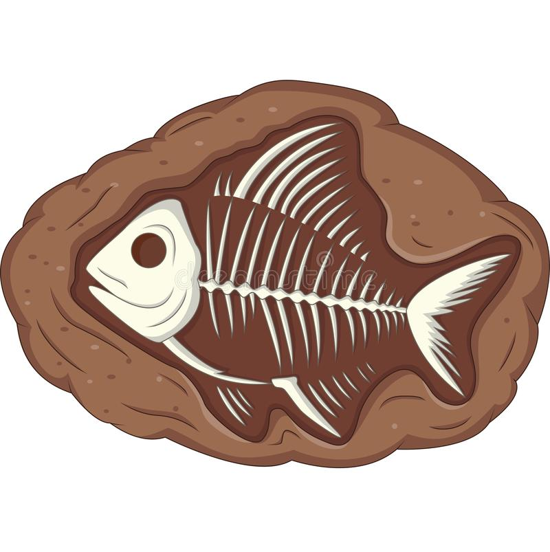 Fóssil subterrâneo dos peixes ilustração do vetor