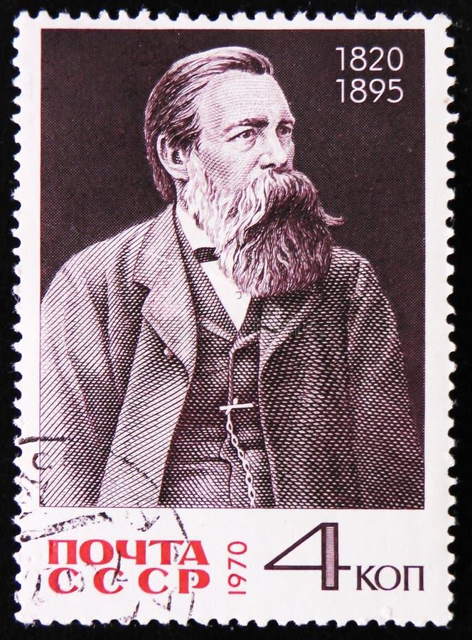 150. födelseårsdag av Friedrich Engels, circa 1970 fotografering för bildbyråer