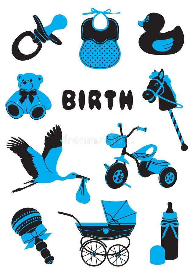 Födelse vektor illustrationer