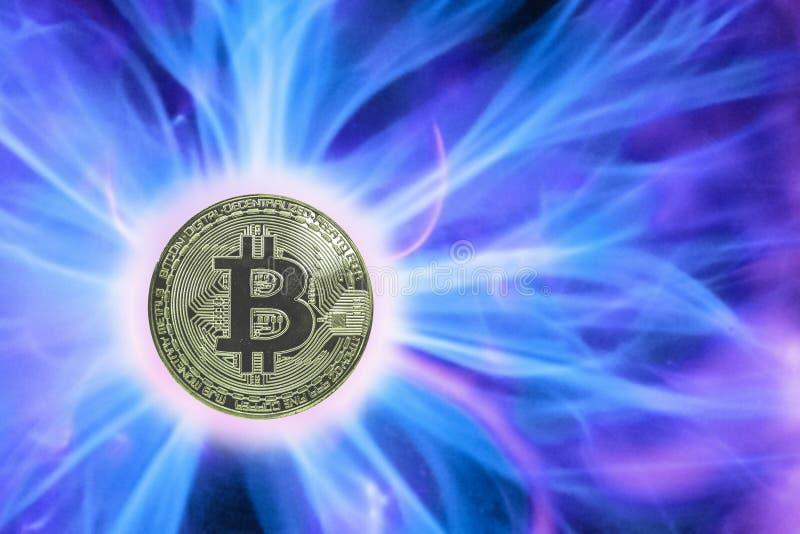 Födelse eller gaffel av den Bitcoin cryptocurrencyen mynt LTC arkivbilder