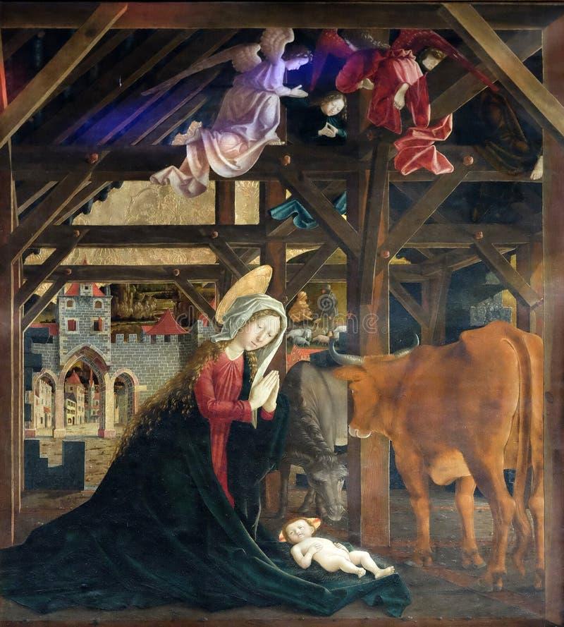födelse jesus arkivbilder