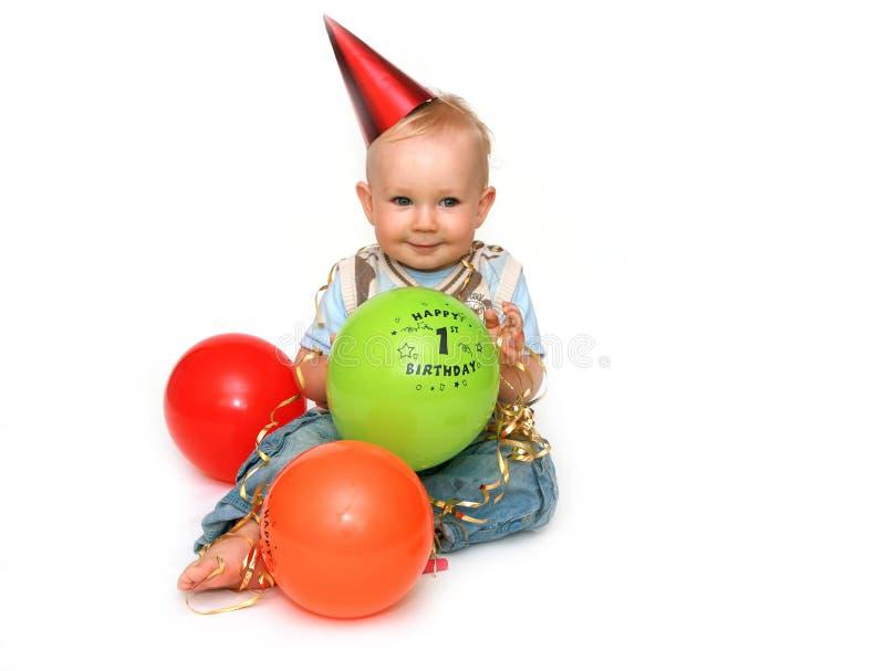 födelsedag först royaltyfri bild