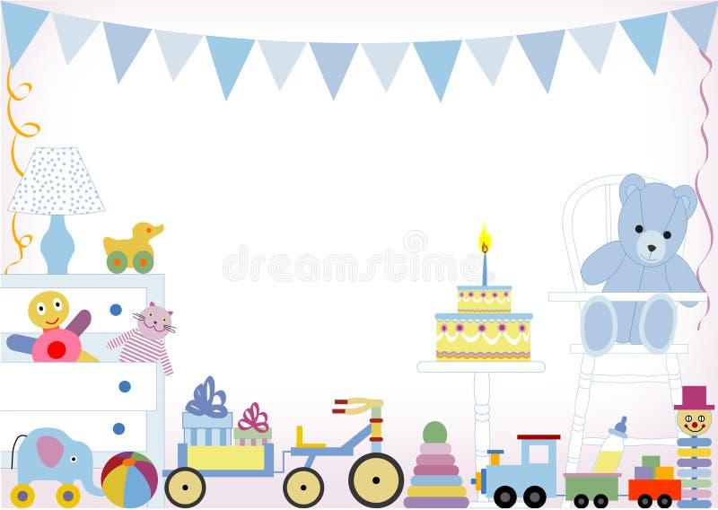 födelsedag först royaltyfri illustrationer