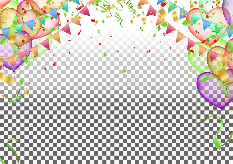 Födelsedag- och berömbaner vektor illustrationer