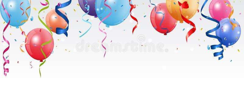 Födelsedag- och berömbaner royaltyfri illustrationer