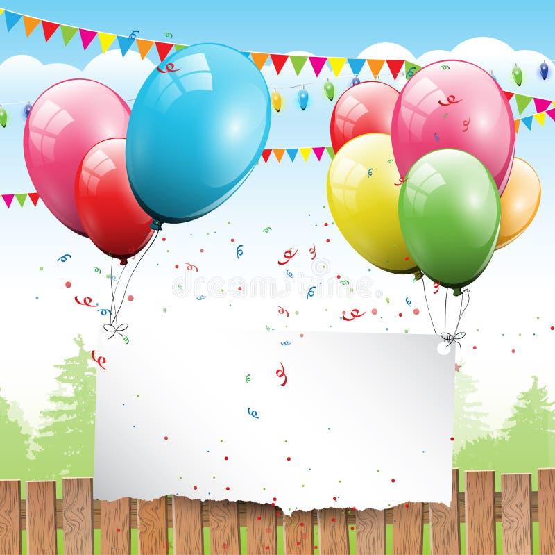 Födelsedagbakgrund vektor illustrationer