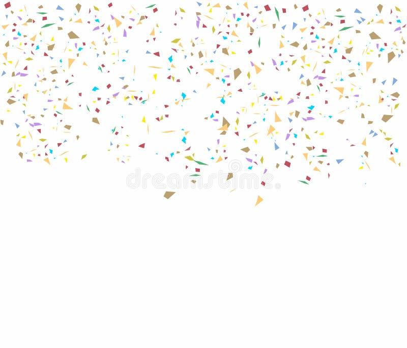 Födelsedagbakgrund med konfettier royaltyfria foton