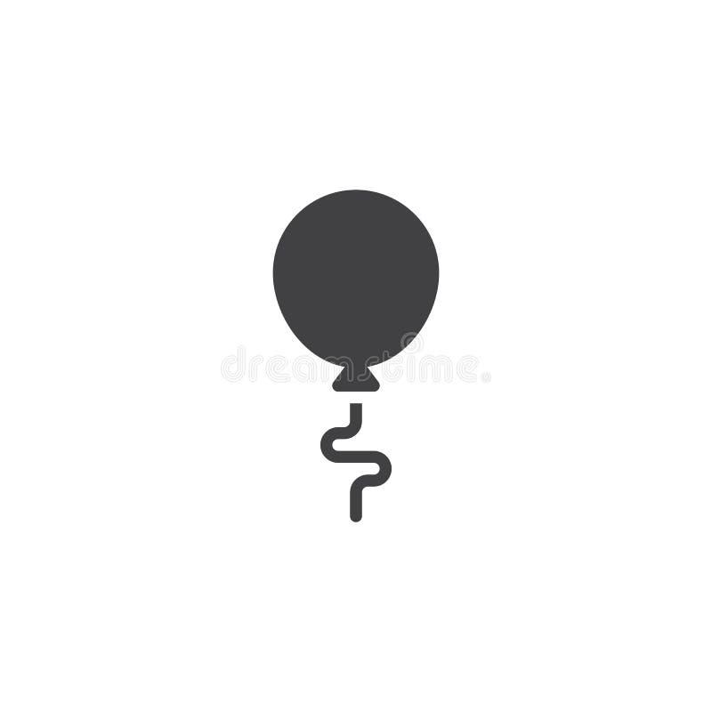 Födelsedagbaloon som flyger vektorsymbolen stock illustrationer