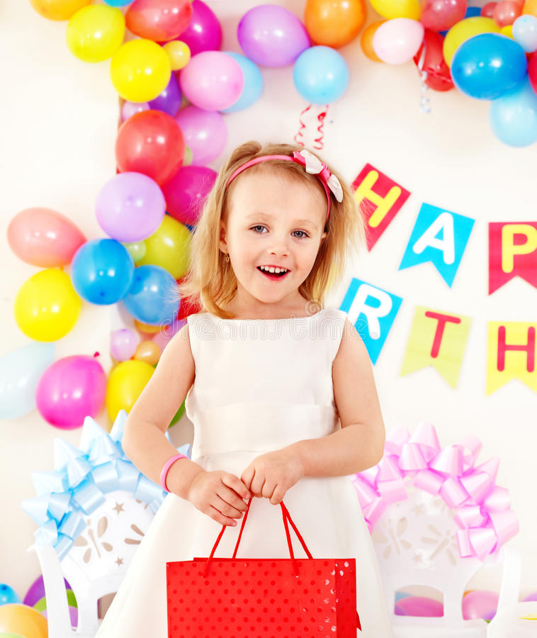 födelsedagbarndeltagare arkivbilder