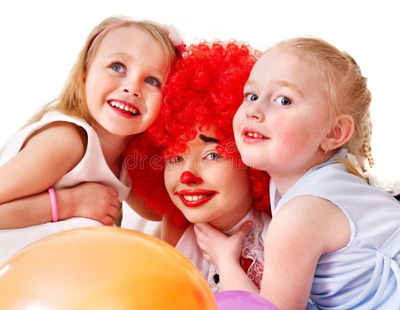 födelsedagbarndeltagare royaltyfri bild