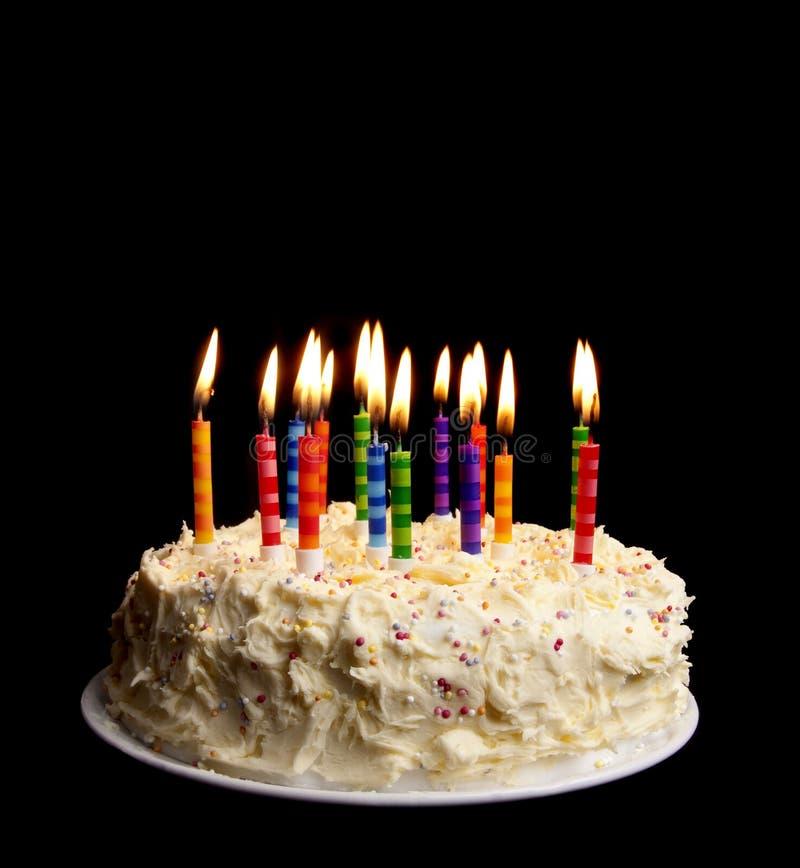 födelsedagblackcake arkivbilder