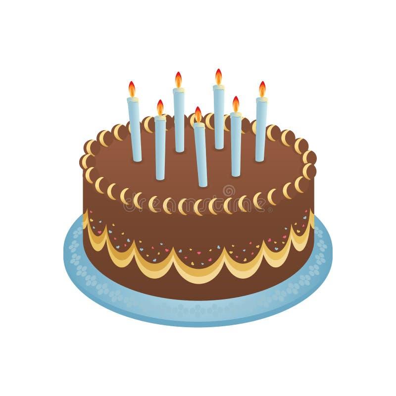 födelsedagcake stock illustrationer