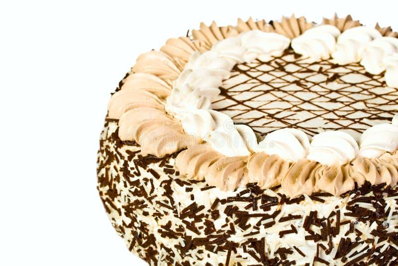 Födelsedagcake med custard arkivbilder