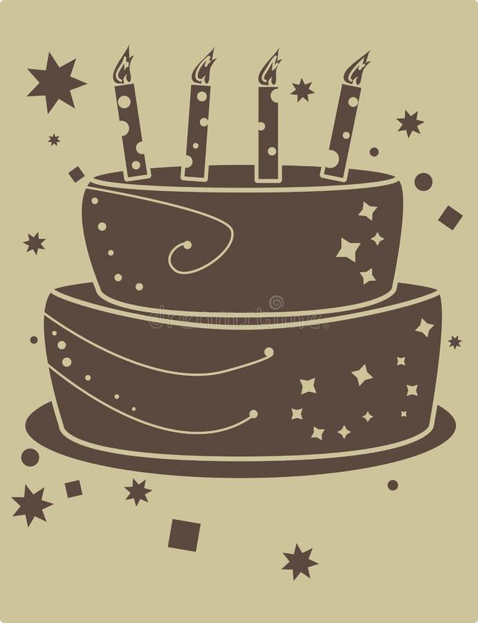 födelsedagcakesignal två stock illustrationer